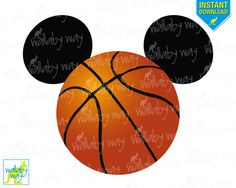 Basketball Mickey Mouse Ears Printable Iron On by TheWallabyWay Lifetime Basketball Hoop, Xavier Basketball, Basketball Scoreboard, Basketball Party, Basketball Season, Basketball Shirts, Sports Theme Birthday, Baby Boy Birthday, Birthday Ideas
