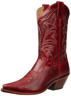 """Justin Boots Women's Vintage Fashion 11"""" Boot Narrow Square Toe Leather Outsole,Red Torino Cow,10 C US"""