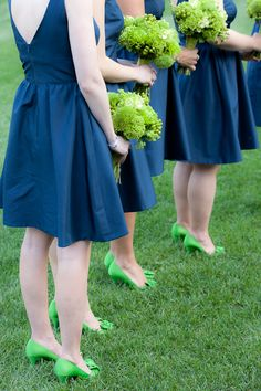 Absolutely adore the green shades and navy blue.