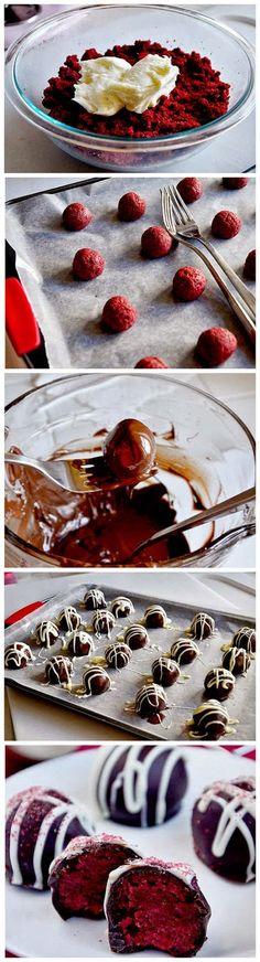 Red Velvet Cake Balls - Quick Recipeez