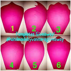 Templates giveaway.. check my other post for rules and details.. #giveaway #paperflower #paperflowertemplates #flowertemplates #diy #diyproject #handmadebyvannara #templates