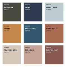 Colour Trends for 2020 What colours will we be seeing next year? See Sherwin Williams predicted colour trends for Plus sneak peek at the moodboard for S/Y Lazy Kingfisher. Trending Paint Colors, Paint Colors For Home, House Colors, Sand Color Paint, Bathroom Paint Colours, Paint Colours For Bedrooms, Terracotta Paint Color, Copper Paint Colors, Warm Bedroom Colors