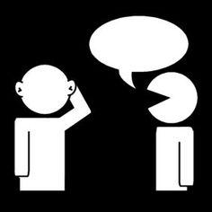Pictogram Luisteren naar elkaar