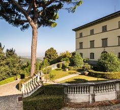 The Renaissance Wedding Villa with the panoramic garden in front of the façade