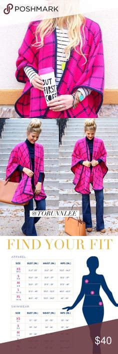 🆕PINK & NAVY CHECK SHAWL BY ALL FOR COLOR PINK & NAVY CHECK SHAWL BY ALL FOR COLOR. Wrap yourself up in this warm, cozy check shawl. Features an open front and solid trim for a finished look. Perfect for those cold weather days! This is a must have piece for your fall/winter wardrobe. Blogger favorite!! Warm and cozy check shawl. One size. 100% acrylic. All For Color Sweaters Shrugs & Ponchos