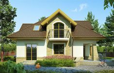 Zdjęcie projektu Iliada III WRP1387 Home Fashion, Cabin, Mansions, House Styles, Home Decor, Decoration Home, Room Decor, Fancy Houses, Cottage
