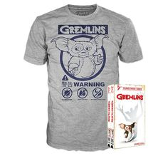 1c9ade978f75 Gremlins Gray T-Shirt Sz XL Tee Shirt ONLY Funko Home Video VHS Style Gift  Box 889698370806 | eBay
