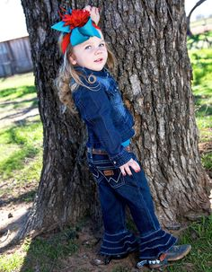 New kids fashion from Wrangler arriving at Billy's Western Wear! Style PQJ856D jeans with ruffles