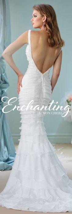 Enchanting by Mon Cheri Spring 2016 ~Style No. 116121 #organzamermaidweddingdress