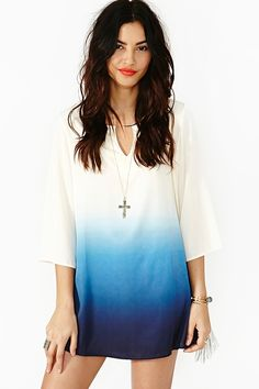 nasty gal. into the blue dress. #fashion