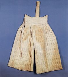 Quilted and lined ladies' trousers (Gyeomnubibaji) of the wife of Chae Muyeok (1537-1594). Look similar to Dansokgot that are worn underneath the chima (skirt). Important Folklore Materials 109-1-2.