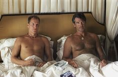 Pin for Later: The Hottest Shirtless Guys in Movies Woody Harrelson and Pierce Brosnan, After the Sunset Because two shirtless guys are better than one, am I right?