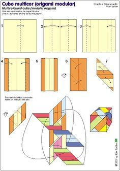 Origami Multicolor Sonobe Cube