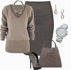 9 winter outfit ideas for the office - Page 3 of 9 - women-outfits.com