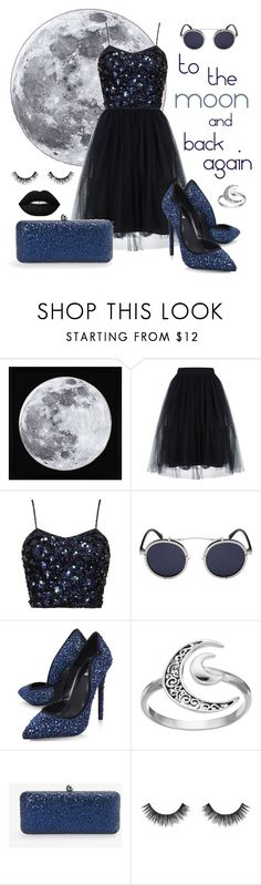 """to the moon"" by ghostbustin ❤ liked on Polyvore featuring Carvela, Primrose, White House Black Market and Velour Lashes"