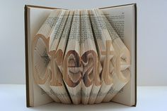 Texas artist Veronica Salazar created these flawlessly crafted folded books. Amazing, no?