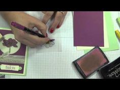 ▶ Make it in 2 minutes or Less....with Ronda Wade. Stained Glass card with Peaceful Petals - YouTube