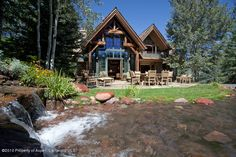 1230 S Tiehack Road - Listing # 117896 - Price: $8,800,000 This beautiful home in the Maroon Creek Club is located on one of the most private lots with incredible outside living including a waterfall and pond. Views of the Aspen Highlands and the bridge.