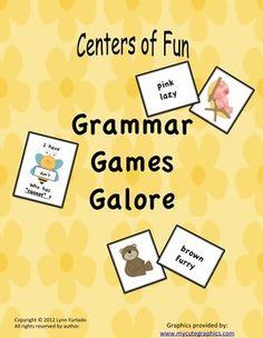 Grammar Games for center activities