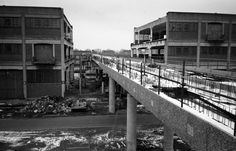 The site of Canary Wharf station, London (or thereabouts) in 1985 • Photo by David Flett
