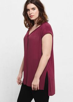 3fd8f485034 Side slit t-shirt - T-shirts Plus sizes