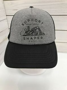 c897116d51726 O Neill Surfing Company Support Your Local Shaper SnapBack Hat Cap Surf  Gray  ONeill