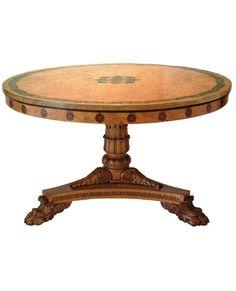 Regency  Pollard oak table   by George Bullock 1777 - 1818