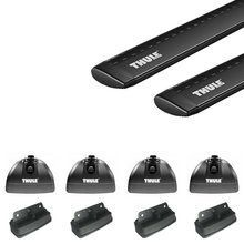 Thule Rapid Podium BLACK AeroBlade Fixed Point Roof Rack for Camper Shell Applications