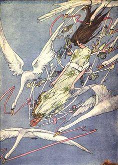 Andersen, Hans Christian. Fairy Tales by Hans Christian Andersen. Harry Clarke, illustrator. New York: Brentano's, 1916.