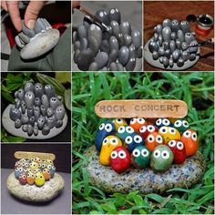 How to DIY Adorable Rock Concert Painted Rock Art by betteDIY Paint Rock Art diy diy ideas diy crafts do it yourself diy projectsRock Garden Markers For Your Veggie BedsAwesome DIY ideas and tutorials we love! Step by step photos and instructions…D Garden Painting, Pebble Painting, Pebble Art, Stone Painting, Diy Painting, Rock Painting, Rock Crafts, Fun Crafts, Arts And Crafts