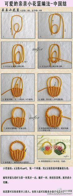 Canastico de nudos Knots Bag - Tutorial: