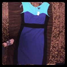Great color block women's professional dress Really beautiful dress Appropriate for work and outings. Ann Taylor Dresses Midi