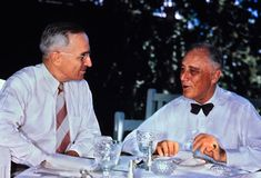 Franklin D. Roosevelt and Harry Truman: Harry Truman had only been vice president for three months before assuming the presidency. During his nearly eight years in office, he attempted to contain the spread of communism as the Cold War heated up.