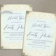Light Blue Bridal Shower Invitations Fancy by Cloud9Factory