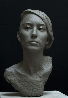 Thor Larsen | Portrait of Niamh Butler Finished clay Life size 2012
