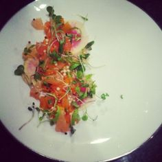 I did a dinner for Eat for Equity the other night.  It was a three course vegetarian dinner and I made a salad based off of a salmon ceviche dish I made a while back.  It uses a cool tapioca technique that I learned from the dinner we did at Governor in Brooklyn.  Enjoy!