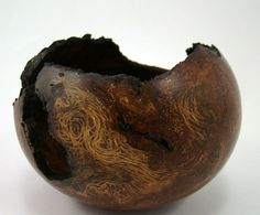 Ancient Beauty - California Black Oak Burl Bowl