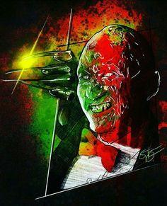 Slasher Movies, Nightmare On Elm Street, Freddy Krueger, Horror, Joker, Painting, Fictional Characters, Art, Art Background