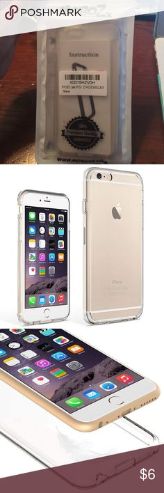 Bumper For Apple iPhone 6/6S (Clear) Precise Cutouts of Speakers, Charging Port and Audio Port give you full access - You can also use third party Charger & Headphones, and Sensitive Button covers allow Responsive presses. The Lips on the both Front & Back of this clear iphone se case to protect screen & camera from scratching or touching the ground or table sarface. Package Contents: iPhone 6/6S Case One Screen Protector One Cleaning Cloth. One Alcohol Prep Pad. One Dust Absorbent…