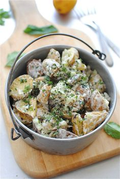 Lemony Roasted Potato Salad (made with greek yogurt)