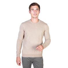 Men's clothing   - Sweater round neck, Trussardi logo   - Composition: 80%Wool 15%Silk...