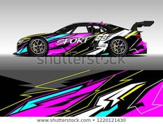 Find Racing Car Wrap Design Vector Graphic stock images in HD and millions of other royalty-free stock photos, illustrations and vectors in the Shutterstock collection. Car Prints, Fantasy Wolf, Drift Trike, Van Design, Drifting Cars, Unique Cars, Car Wrap, Vinyl Designs, Car Decals