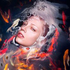 Retratos y la barrera del agua