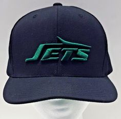 2f6161ca35f New York Jets Mitchell  amp  Ness NFL Vintage Cap Hat Black Green Logo  Snapback