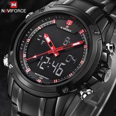 2016 Luxury Brand Men Military Sports Watches Men's Quartz LED Digital Hour Clock Male Full Steel Wrist Watch Relogio Masculino Great, huh?  #shop #beauty #Woman's fashion #Products #Watch