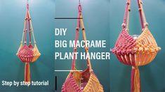 DIY Macrame Plant Hanger #14 | Big Macrame Plant Hanger Without Ring | T... Macrame Plant Holder, Macrame Plant Hangers, Plant Holders, Macrame Owl, Macrame Knots, Ring Tutorial, Drop Earrings, Plants, Diy
