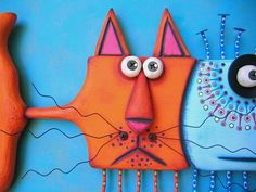 Catfish Fish Wall Art Cat Wall Art Original Found Object