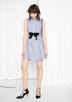 & Other Stories image 2 of A-line Cotton Dress in Blue