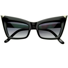 Super Cateye NYC Designer Inspired Fashion Cat Eye Sharp High-Pointed... ($9.99) ❤ liked on Polyvore featuring accessories, eyewear, sunglasses, glasses, cat-eye glasses, cateye sunglasses, cat eye sunglasses and cat eye sunnies