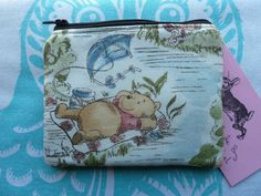 Handmade Coin Purse Small Makeup Bag Winnie The Pooh Harris Tweed Pouch Cosmetic in Clothes, Shoes & Accessories, Women's Accessories, Purses & Wallets | eBay